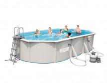 Стальной овальный бассейн BestWay Hydrium Oval Pool Set 610х360х120 см, 19929л