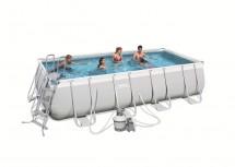 Каркасный прямоугольный бассейн BestWay 488х274х122 см, 13177 л