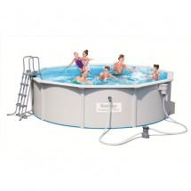 Стальной бассейн BestWay Hydrium Pool Set 460х120 см, 17430 л (56384)