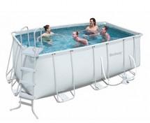 Каркасный прямоугольный бассейн BestWay 412х201х122 см, 8124 л