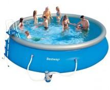 Бассейн с надувным бортом BestWay 549х122 см, 21182 л
